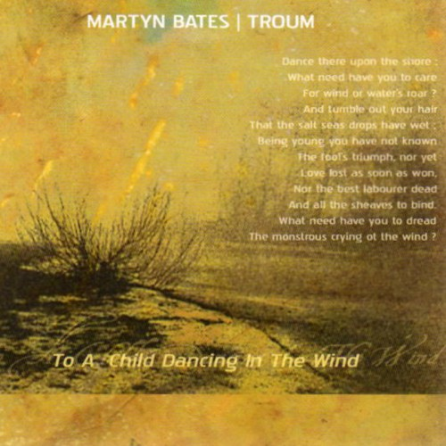 TROUM & MARTYN BATES - To a Child, Dancing in the Wind CD